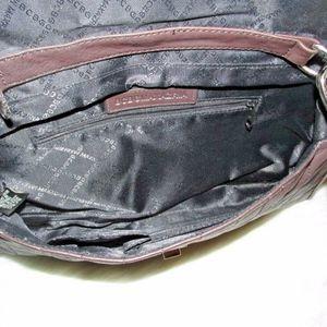 BCBGMaxAzria Bags - BCBGMaxAzria Brown Quilted Leather Clutch Purse